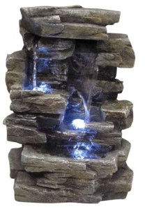 Alpine Waterfall Tabletop Fountain with Light