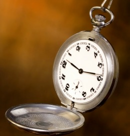 an open pocket watch