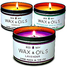 Wax and Oils Soy Aromatherapy Candles