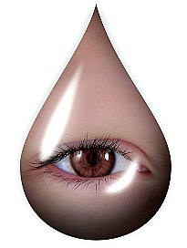 eye in the shape of a tear