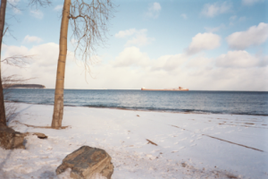 tranquil beach scene