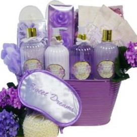 a gift box full of lotions and spa lotions